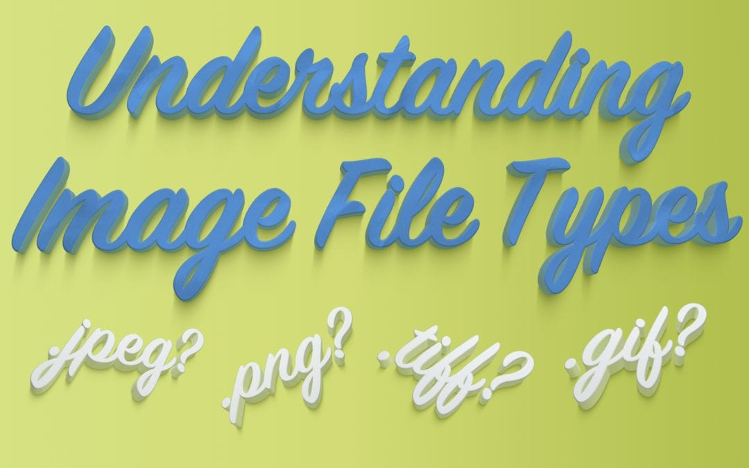 What are the different types of image file formats?